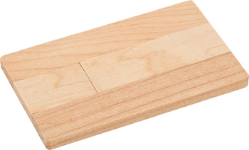 USB-Stick Card Wood